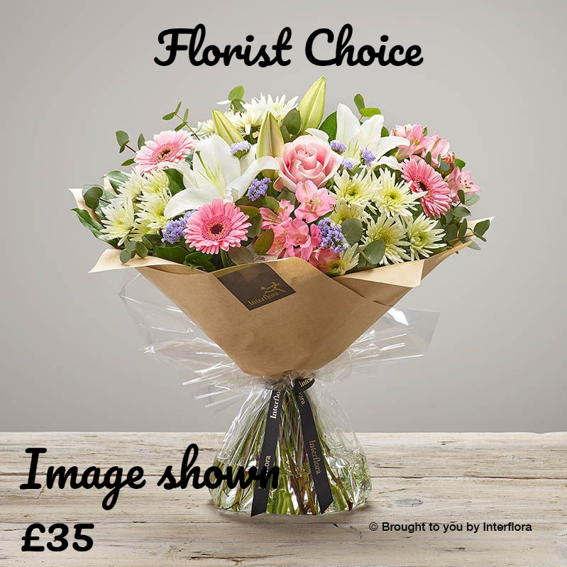 Florist Choice Hand tied - Pinks from