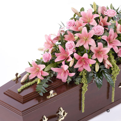 Lily & Rose Casket Spray - Pink