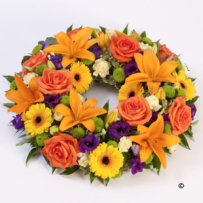 Rose & Lily Wreath - Vibrant